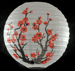 Paper Lanterns Cherry Blossoms 14""