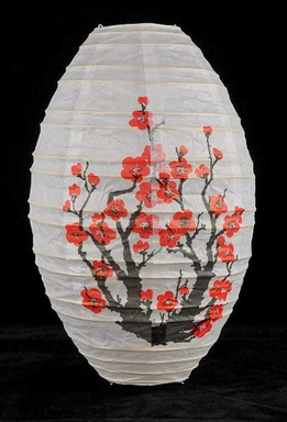 "Paper Lanterns Japanese Cherry Blossom 18"" Oval Lanterns"