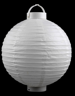 "Paper Lanterns LED Battery Operated 12"" White"