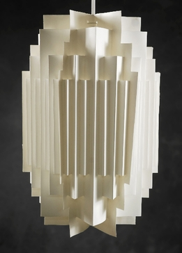 "Paper Lanterns Manhattan Modern 16"" White"