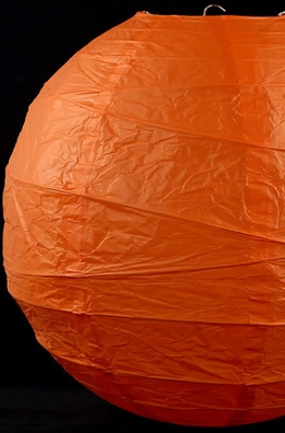 Paper Lanterns Orange 16 in. Rice Paper Bamboo Frame
