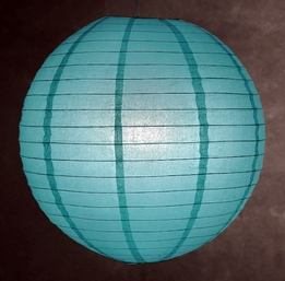 Paper Lanterns Round 20 in. Oasis Blue (Water Blue)