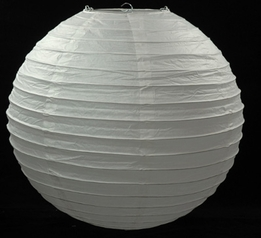 Paper Lanterns White Large Round 24in