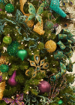 Peacock Christmas Decorations