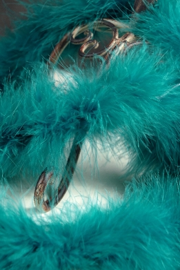 Peacock Teal Blue Marabou Feather Boas 25 gram