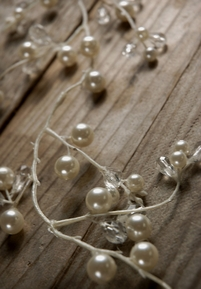 Pearl and Crystal Garland 6ft