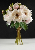 Silk Peony Bouquet Cream 19in