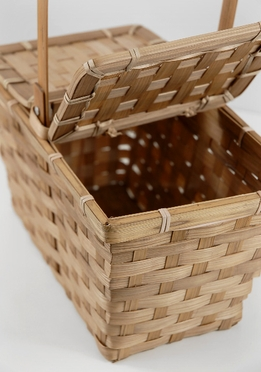Bamboo Picnic Basket 10in