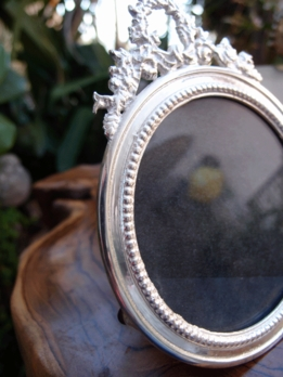 Picture Frames Ornate Silver Round 5""