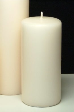 Pillar Candles Ivory 6in