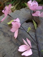 "Pink Dogwood Branch 24"" Vintage"