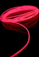 Pink El Wire 15' 2.2mm Complete Kit Battery Operated