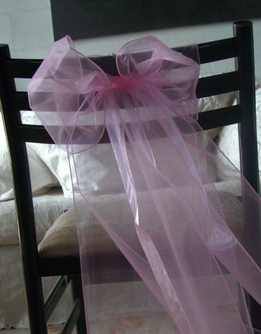 Pink Organza Chair Sashes (Pack of 10)