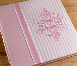 Pink & White Penelope: Baby's First Year Book by Molly West