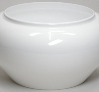 Plastic high luster floral containers