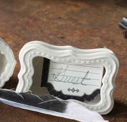 Porcelain Card Holders (Set of Two)
