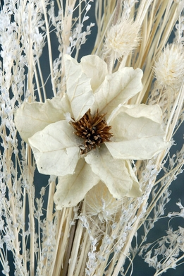 "Preserved Flowers 23"" Bleached Designer Medley Dried Grasses & Thistle"