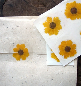 Pressed Flowers Envelope Seals