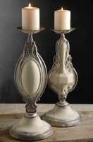 "Pressed Tin 14"" Candle Holders Set of Two"