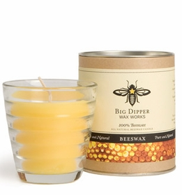 Pure Beeswax Candle in Beehive Glass (35 hour burn)
