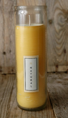 "Pure Beeswax Sanctuary Glass 8"" Candle (120 hrs)"