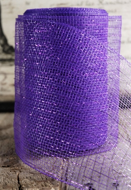 "Purple Sparkle Mesh 7"" wide x 60 Feet"