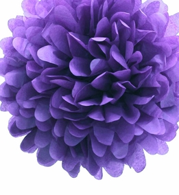 "Tissue Paper Pom Poms 20"" Lavender (Pack of 4)"