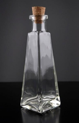 Pyramid Glass Bottle 6 oz
