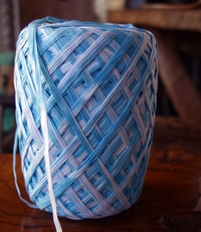 Raffia Ribbon 2 Color Sky Blue & White 100 yards