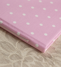 Rag & Bone Baby Shower Guest Book Dotty Pink