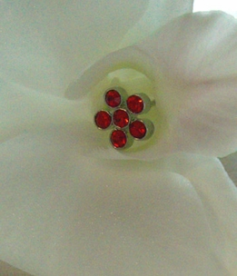 "Red Flower Crystal 3"" Flower Pins (5 pins /pkg)"