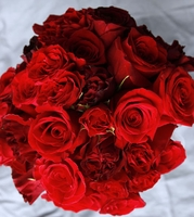 Red, Mauve Red & Burgundy Flowers, Decorations, Ribbon