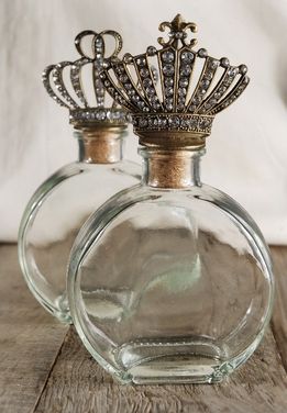 Crown Top Bottles | Set of 2