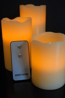 Remote Control Battery Operated Candles (3 candles set)