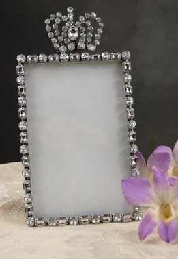 Rhinestone Crown Table Number Frames 4x6