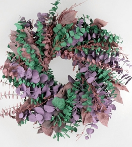 "Romance Wreath 17"" Natural Eucalyptus Wreath"