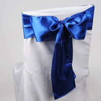 Royal Blue Satin Chair Sashes (Pack of 10)