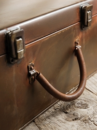 Rusted Metal Suitcase 12x8