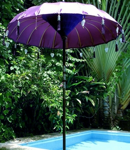 Satin Balinese Umbrella Handmade Purple