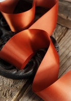 "Satin Ribbon Double Face Copper 1-1/2"" width 50 yards"