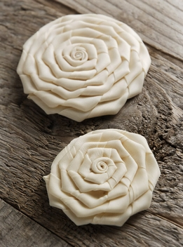 Satin Ribbon Roses (set of two)