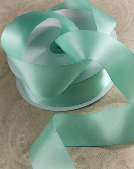"Satin Ribbon Tiffany Blue DF 1-1/2"" width 50 yards"