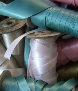 Satin, woven, velvet, silk ribbon collection