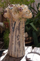 "Shabby Chic Rose 10"" Candle Holder"