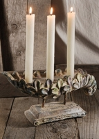 Shabby Chic Rose Taper Candle Holder