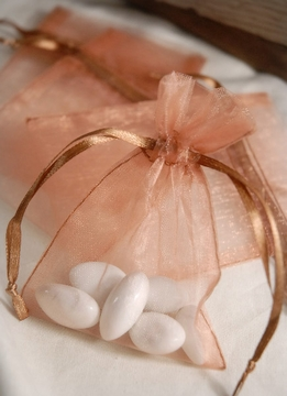 "Sheer Favor Bags Copper Organza 3"" x 4"" (12 bags/pkg)"