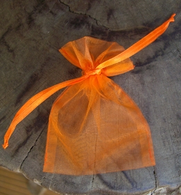 "Sheer Organza Drawstring Bags Orange 3"" x 4"" (24 bags/pkg)"