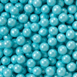 Shimmer Powder Blue Sixlets Favor Candy | Six 14oz Bags