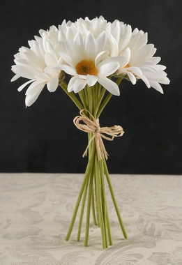 Silk Daisy Bouquet White Daisies (12 flowers)