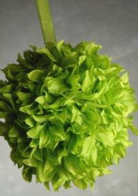 "Silk Flower Balls 8"" Spring Green"